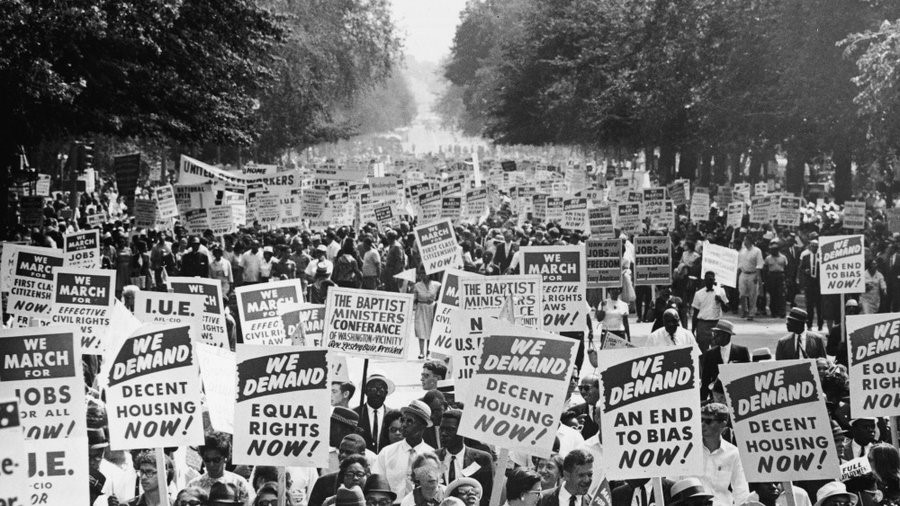 The Civil Rights March on Washington, 1963