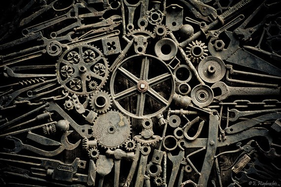 Old cogs representing scientism