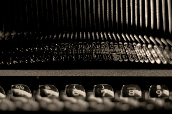 Typewriter keys: writing a response