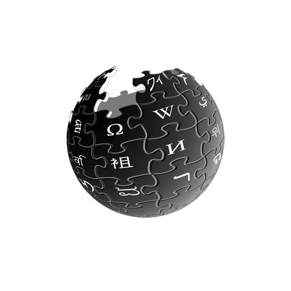Wikipedia Logo black